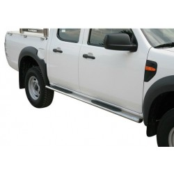 TUBES MARCHE PIEDS INOX 76 FORD RANGER 2009- - accessoires 4X4 MISUTONIDA