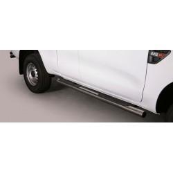 TUBES MARCHE PIEDS INOX 76 FORD RANGER 2012- SUPER CABINE - accessoires 4X4 MISUTONIDA