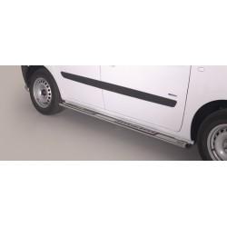 TUBES MARCHE PIEDS OVALE INOX DESIGN FORD TRANSIT CUSTOM VERSION COURTE (L1) 2013 accessoires 4x4 MISUTONIDA