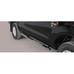 TUBES MARCHE PIEDS OVALE INOX 76 FORD RANGER 2012- accessoires 4X4 MISUTONIDA