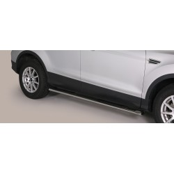 TUBES MARCHE PIEDS OVALE INOX FORD KUGA 2013- CE accessoires 4x4 MISUTONIDA