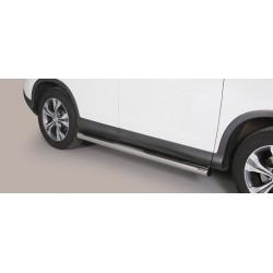 TUBES MARCHE PIEDS INOX 76 HONDA CR-V 2012- accessoires 4x4 MISUTONIDA