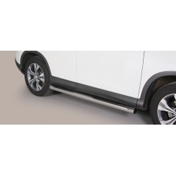 TUBES MARCHE PIEDS OVALE INOX HONDA CR-V 2012- accessoires 4x4 MISUTONIDA
