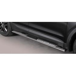 TUBES MARCHE PIEDS OVALE INOX DESIGN HYUNDAI SANTA 2012- accessoires 4x4