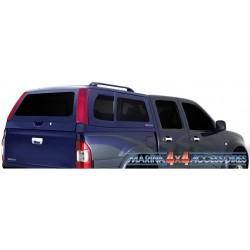 Hard top ACIER ISUZU DMAX 2003- 2011 DOUBLE CAB ARGENT(936)VITRE AV NON COULISSANTE