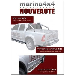 ROLL BAR INOX MTC Ø 76 et GRILLE DE PROTECTION ISUZU D-MAX - accessoires 4X4 MISUTONIDA