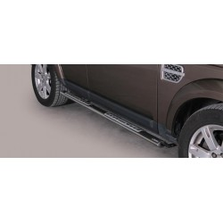 TUBES MARCHE PIEDS OVALE INOX DESIGN LAND ROVER DISCOVERY 4 2012- CE accessoires 4X4 MISUTONIDA