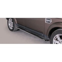 TUBES MARCHE PIEDS OVALE INOX 76 LAND ROVER DISCOVERY 4 2012- CE accessoires 4X4 MISUTONIDA