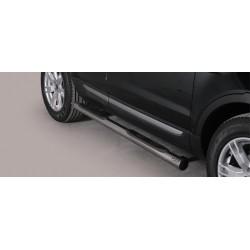 TUBES MARCHE PIEDS OVALE INOX 76 RANGE ROVER EVOQUE 2012- accessoires 4X4 MISUTONIDA