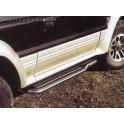 Marche pieds INOX Ø50 MITSUBISHI PAJERO 3 PORTES 2.5L1991- 1996 accessoire 4X4 MARINA