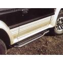 Marche pieds INOX Ø50 MITSUBISHI PAJERO 5 PORTES 2.8L 1996- 2004 accessoire 4X4 MARINA