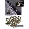 ANNEAUX DE SANGLAGE INOX (6 pièces) Tonneau cover aluminium VOLKSWAGEN AMAROK 2010- accessoires 4X4 MISUTONIDA